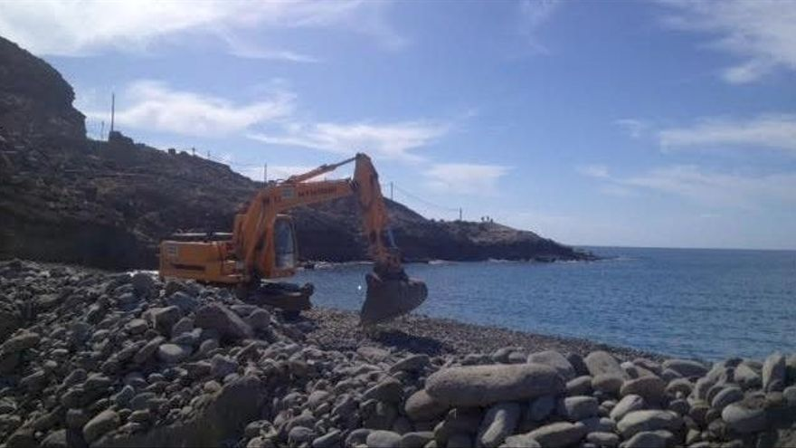 Obras en la Playa de Tauro en Mogán