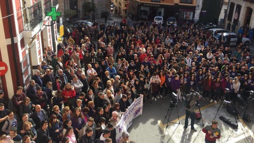 Un momento de la concentración en Callosa d'En Sarrià de este lunes