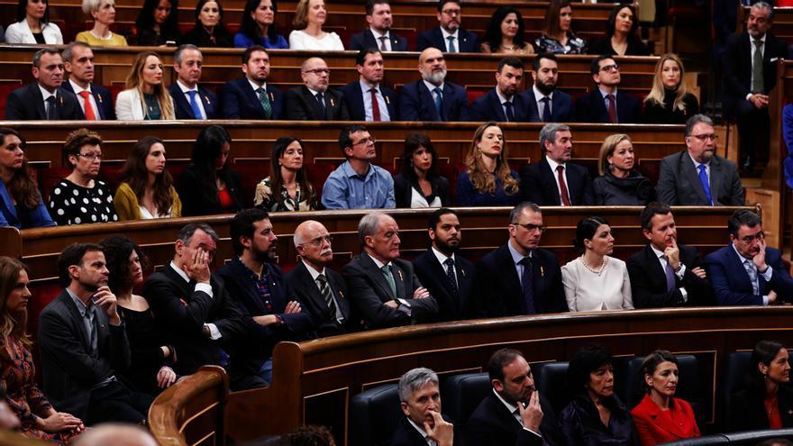 Gradas del Congreso durante el acto de apertura de las Cortes