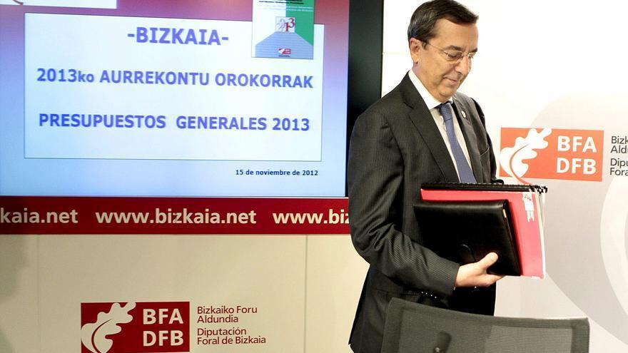 José Luis Bilbao, en la presentación de los presupuestos de 2013