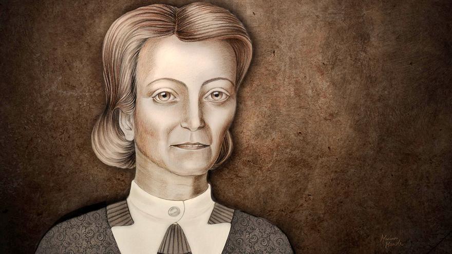 Ilustración realizada por Marina Manole, alumna de la Escuela de Arte de Puente San Miguel.