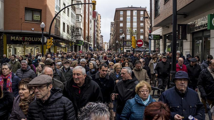 Manifestación por unas pensiones dignas en Gijón.