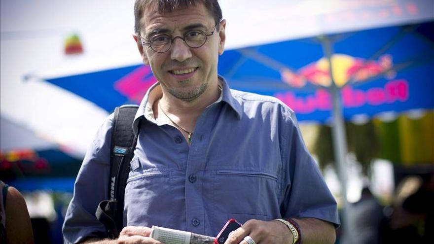 Juan Carlos Monedero, uno de los rostros más visibles de Podemos. \ Efe