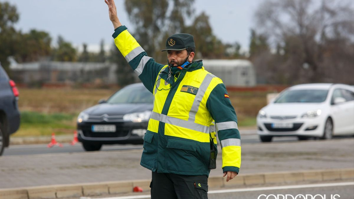 Control de la Guardia Civil.