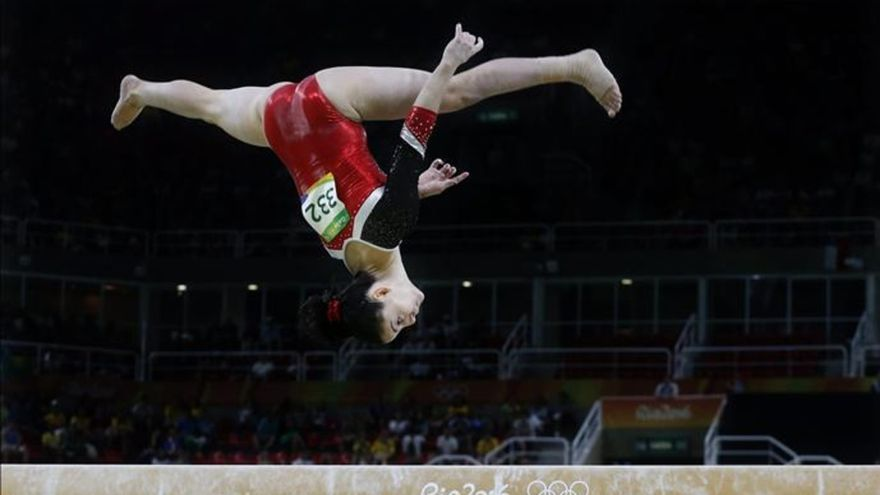 La gimnasta sevillana Ana Pérez, una de la smejores del mundo.