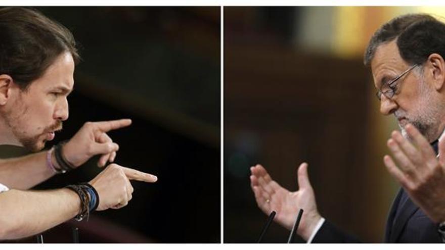 Rajoy e Iglesias protagonizan su primer cara a cara en una sesión de control