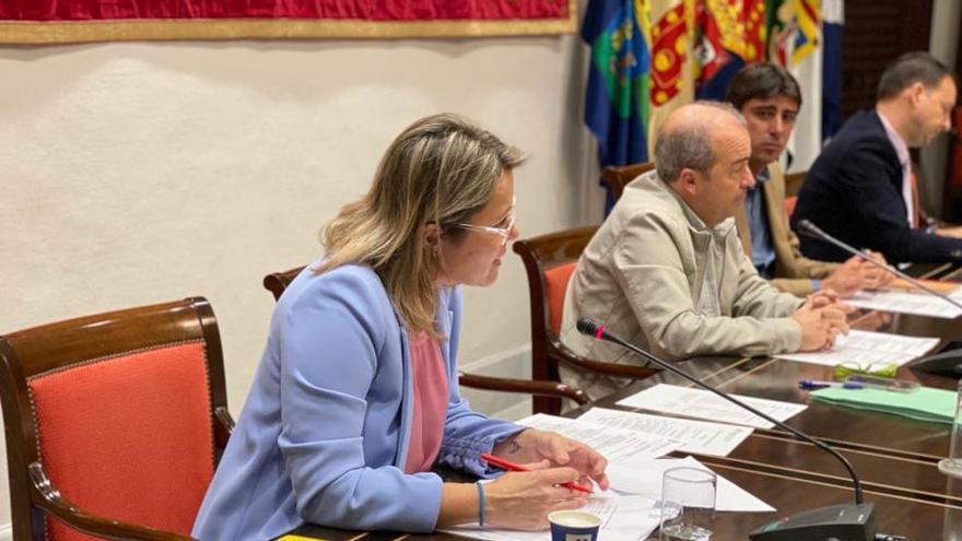 Alicia Vanoostende en sede parlamentaria.