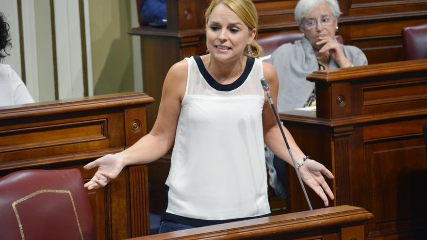 La diputada de Podemos en el Parlamento de Canarias Noemí Santana (Flickr Parlamento)