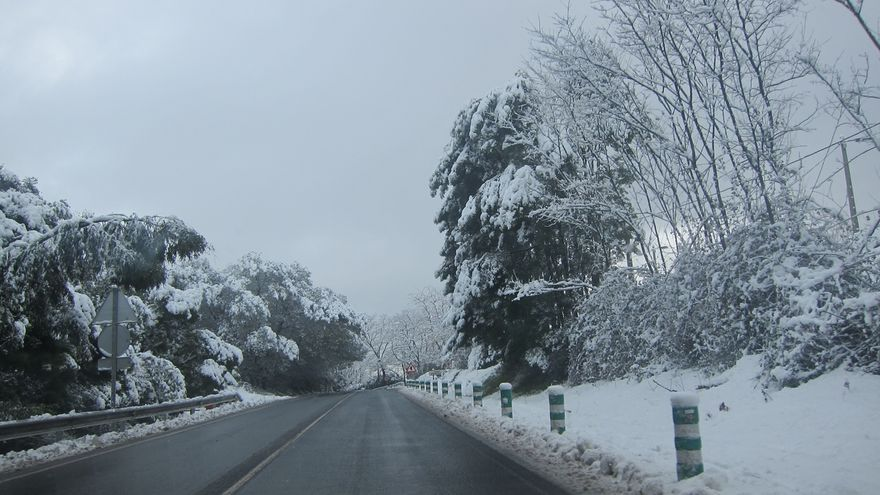 Activado para el miércoles en Euskadi el aviso amarillo por nieve por debajo de los 1.000 metros