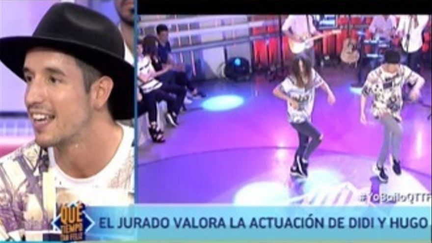 Hugo Rosales, de 'Fama', volvió a '¡Qué tiempo tan feliz!' como concursante