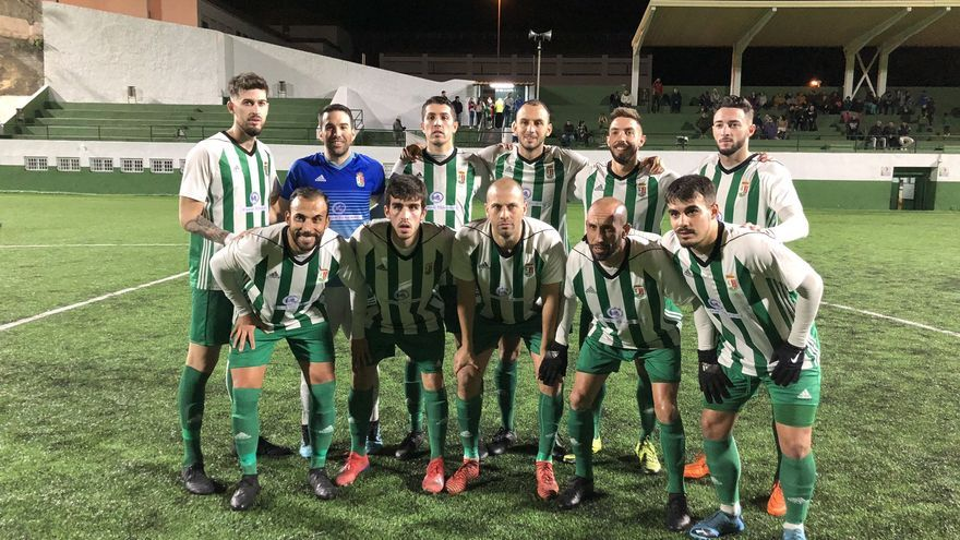 Formación del Atlético Victoria frente al Unión Tejina