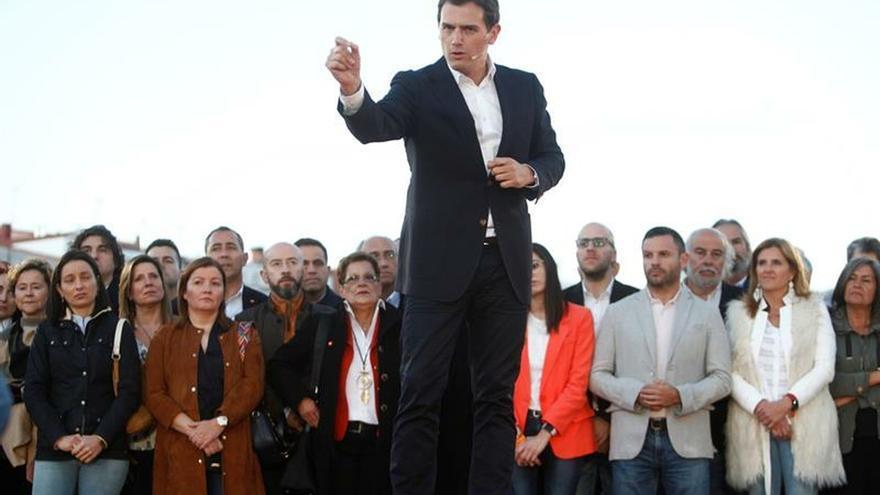 El presidente de Ciudadanos, Albert Rivera, durante el encuentro ciudadano celebrado en A Coruña.