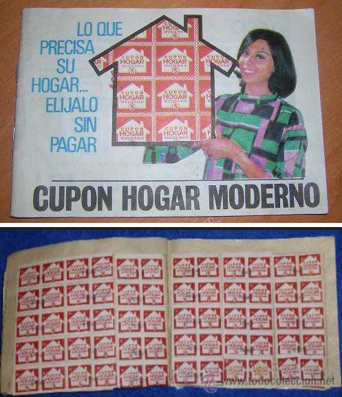 Libreta y cupones de Cupón Hogar Moderno   A partir de imágenes de http://todocoleccion.net