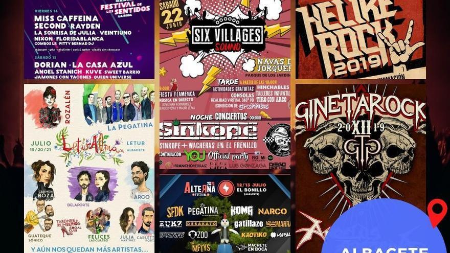 Cartel festivales 2019 Albacete