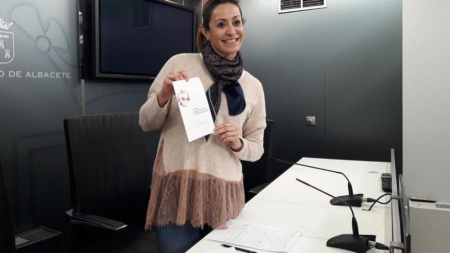 La concejal de Promoción Económica del Ayuntamiento de Albacete durante la presentación