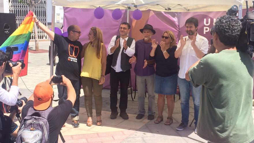Acto de campaña de Unidos Podemos en Fuerteventura con Juan Carlos Monedero; Rafa Mayoral; Meri Pita; Noemí Santana; Rafa Marrero y Diego Flores
