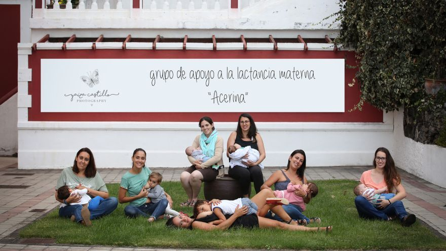 Madres del Grupo de Apoyo a la Lactancia Materna 'Acerina', Foto: YAIZA CASTILLO.