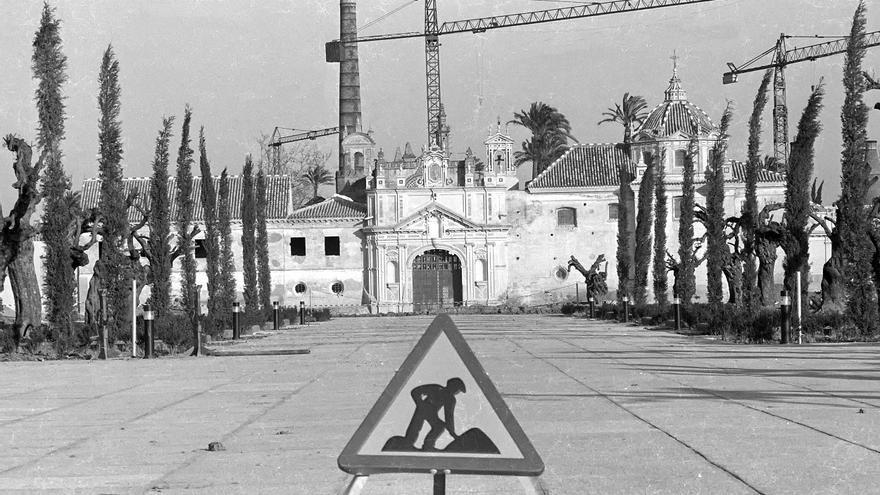 Obras en la Cartuja. Paco Cazalla