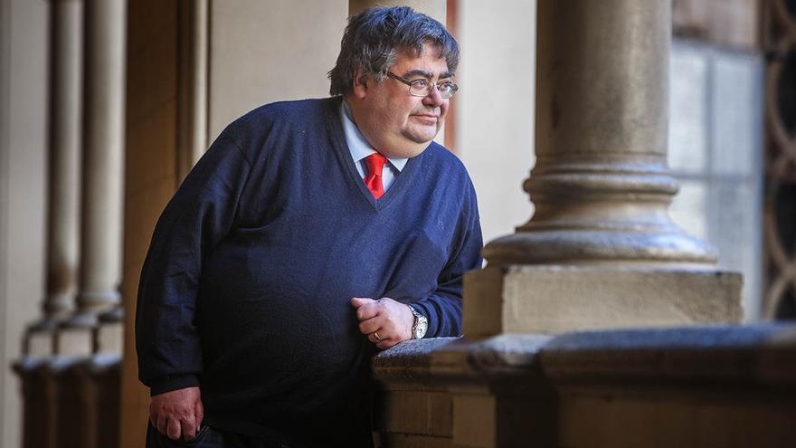 Xavier Melgarejo, expert en el sistema educatiu Finlandès, a l'escola Claret de Barcelona. / Carmen Secanella
