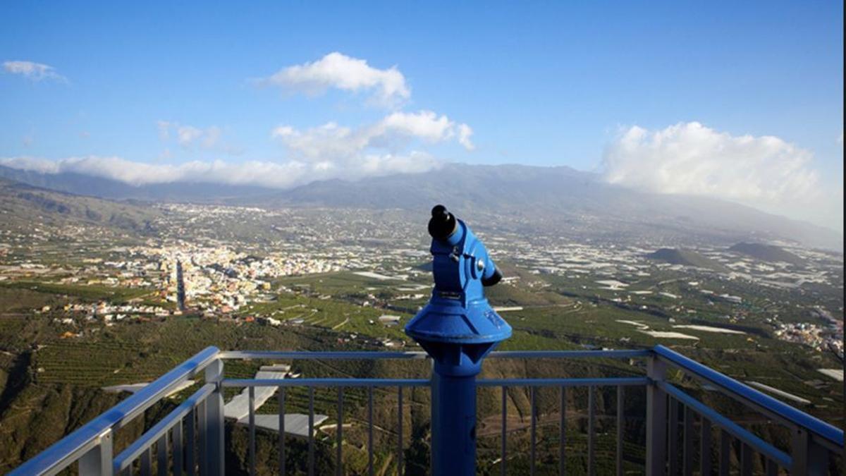 Panorámica del Valle de Aridane desde el Mirador de El Time.