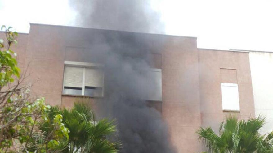 Incendio de una vivienda en 7 Palmas