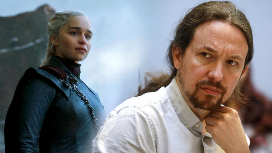 Pablo Iglesias interpreta el final de 'Juego de tronos' con Echenique, Catalunya... y un papel para Carmena