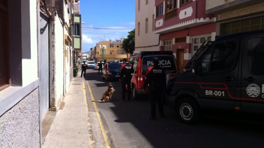 Imagen de archivo de un dispositivo del Cuerpo General de la Policía Canaria.