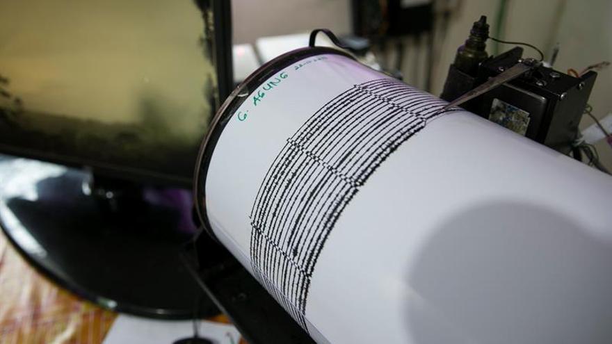 Un sismógrafo muestra actividad sísmica en una imagen de archivo