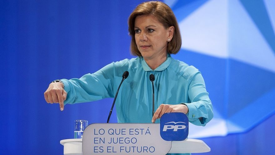 """Cospedal insta a ir a votar el domingo para evitar que """"ganen los que no creen en España"""""""