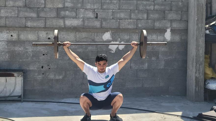 Mohammed Hamada entrenando en Gaza
