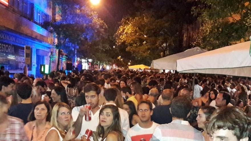 Imagen de la calle Ponzano durante las Fiestas del Carmen 2017 | TWITTER: JUAN CARLOS