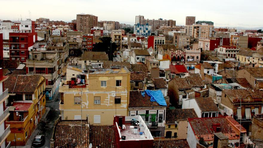 Vista del barrio marítimo de Valencia El Cabanyal