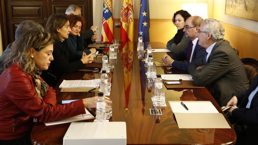 Reunión entre el Gobierno de Aragón y el Ministerio de Transición Ecológica