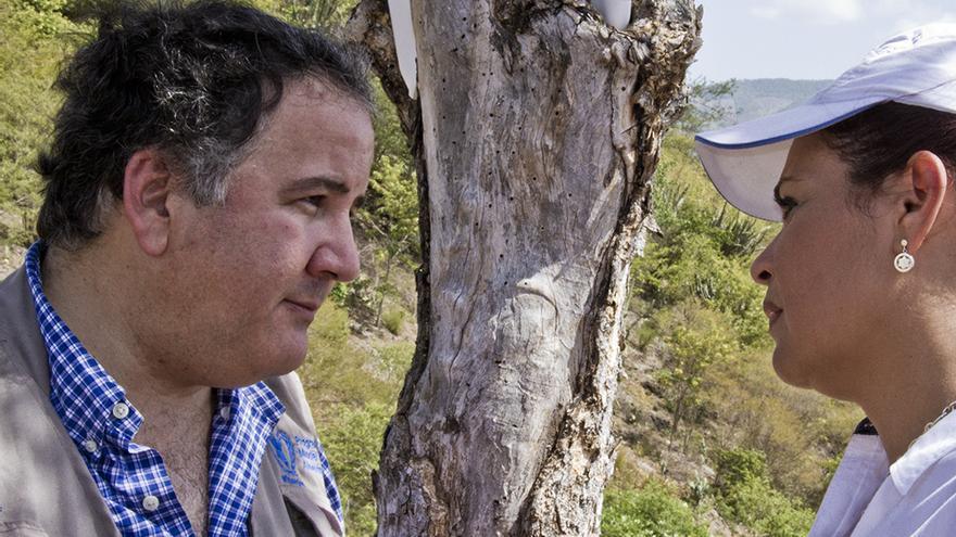 Miguel Barreto, director regional del PMA y la vicepresidenta de Guatemala Roxana Baldetti, visitan las zonas afectadas por la sequía en el país. Foto: PMA/Francisco Fión