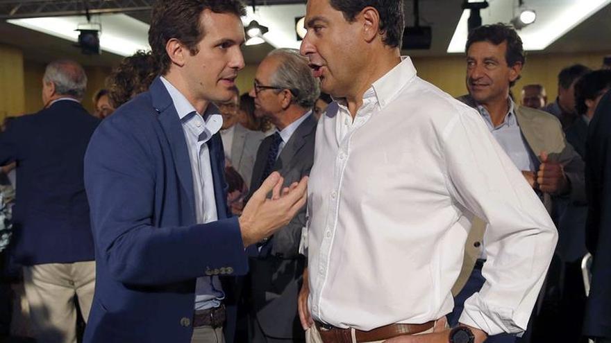 """Moreno critica el """"show"""" de PSOE y Cs para provocar un adelanto """"innecesario"""""""