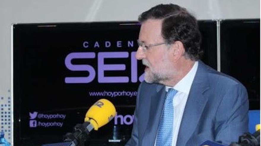 Mariano Rajoy, en una entrevista en la Cadena Ser este miércoles.