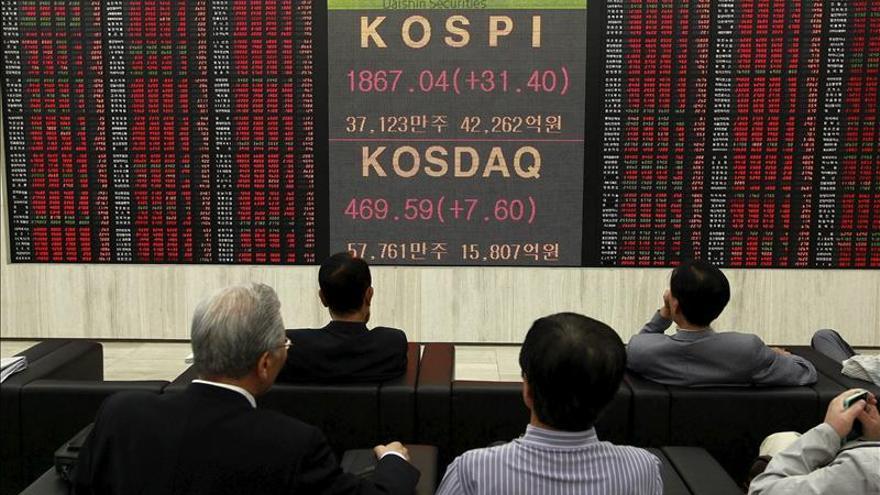 El Kospi surcoreano sube un 0,11 por ciento hasta los 1.965,21 puntos