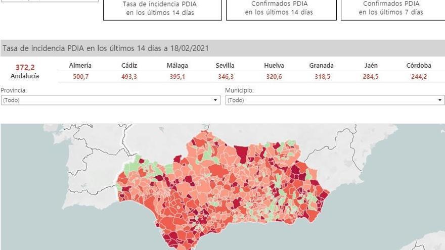 Cvirus.-Almería, Cádiz, Marbella, Algeciras, San Fernando, Chiclana y Estepona, grandes ciudades que superan la tasa 500