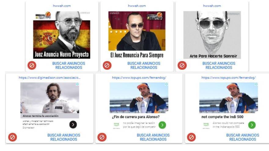 Anuncios con la cara de Risto Mejide o Fernando Alonso, bloqueados para que no sean mostrados en eldiario.es