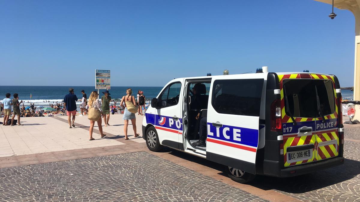 Playa de la localidad de Biarritz