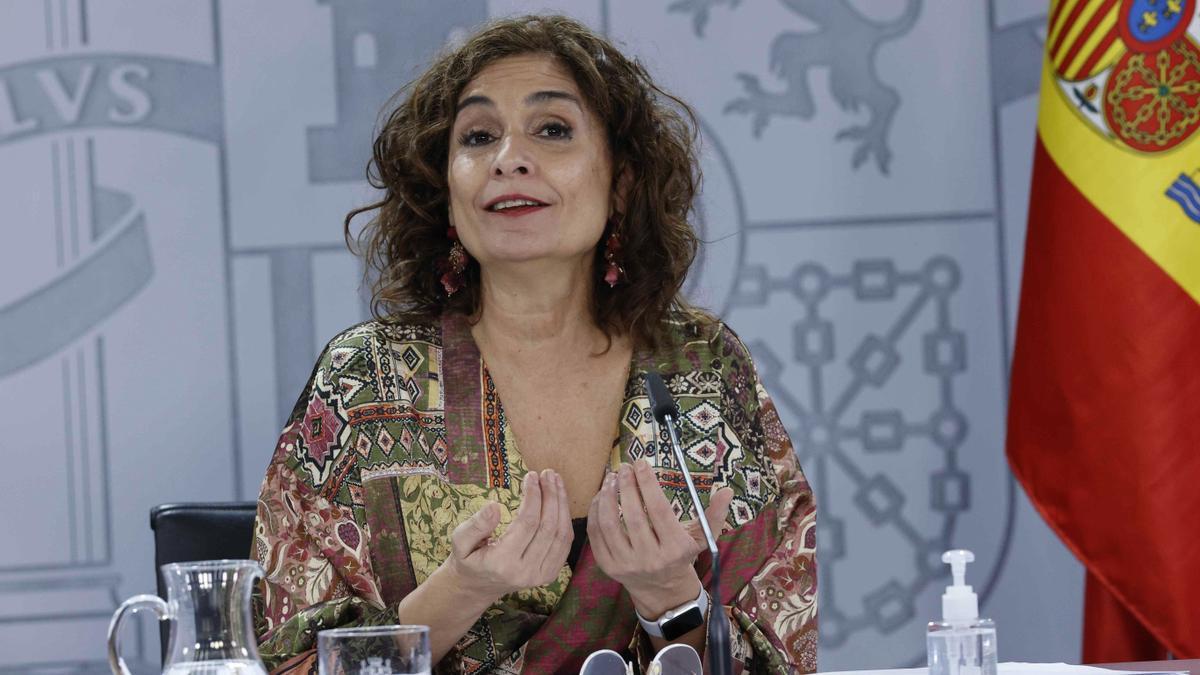 La ministra de Hacienda y portavoz del Gobierno, María Jesús Montero. EFE/Zipi/Archivo