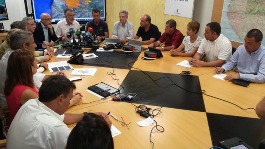 Rueda de prensa del presidente del Gobierno de Canarias, Ángel Víctor Torres, para informar de la última hora del incendio.