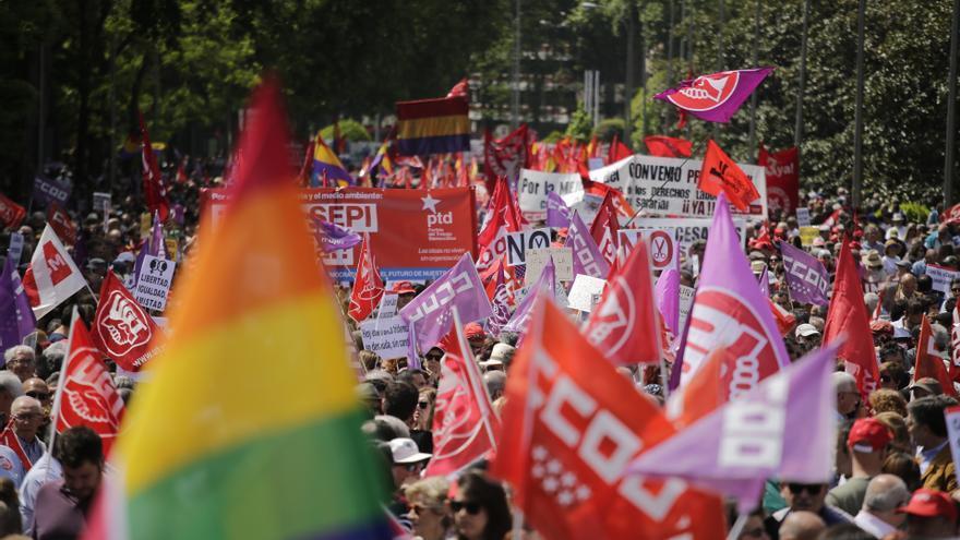Manifestación en Madrid el Día de los Trabajadores