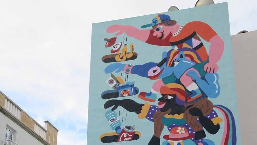 El museo al aire libre de los llanos estrena mural de for Mural nuestra carne