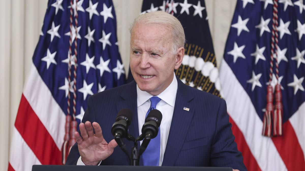 En la imagen, el presidente de EE UU., Joe Biden. EFE/Oliver Contreras/Pool/Archivo