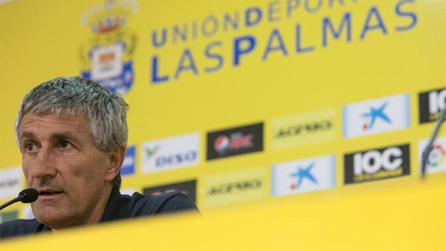 El entrenador de la Unión Deporttiva Las Palmas, Quique Setién