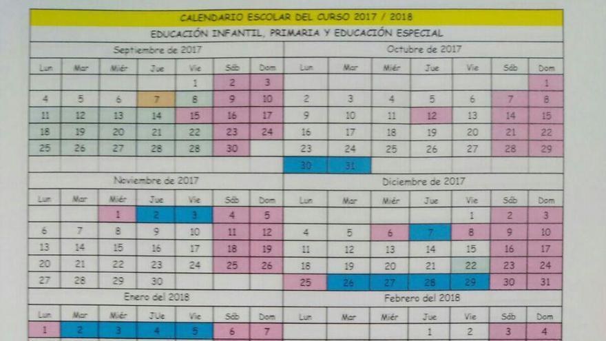 Así será el calendario escolar del próximo curso en Cantabria.