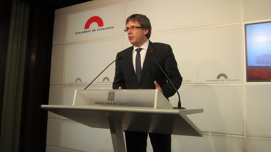 """Puigdemont funda el Pacto por el Referéndum para lograr una consulta """"acordada"""""""