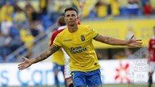 Rubén Castro celebra uno de sus goles. (UDLASPALMAS)