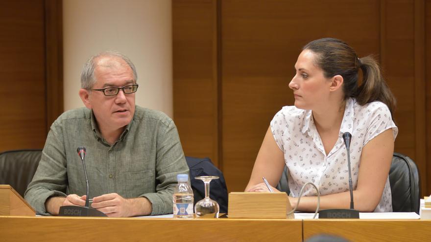 Abel Guarinos, director de CulturArts, en la comisión de Cultura de les Corts